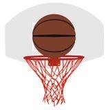 Panier et cercle gris de basket-ball Images libres de droits