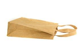 Panier fabriqué à partir de le sac réutilisé Photographie stock libre de droits