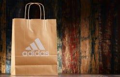 Panier original del papel de Adidas Fotos de archivo libres de regalías