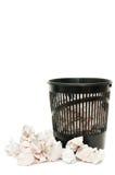 Panier pour des ordures image libre de droits