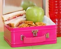 Panier-repas exprès - rose Images stock