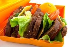 panier-repas sain photographie stock libre de droits