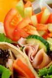 Panier-repas sain de gosses Photographie stock libre de droits