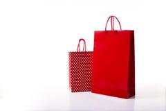 Panier rojo y punteado Fotos de archivo libres de regalías