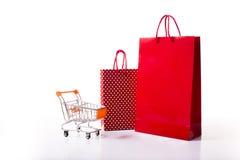 Panier rojo y punteado Imagen de archivo libre de regalías