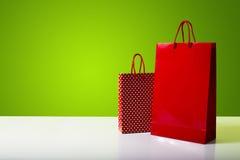 Panier rojo y punteado Imágenes de archivo libres de regalías