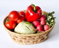 Panier végétal Photographie stock libre de droits