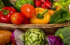 Panier végétal Photo stock