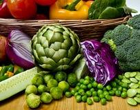 Panier végétal Images libres de droits
