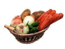 Panier végétarien (2) Image stock