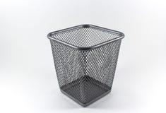 Panier vide en métal Photographie stock libre de droits