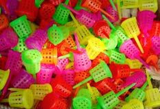 Paniers à émission lente colorés d'engrais Photo libre de droits