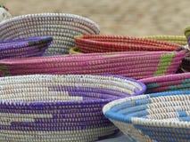 Paniers africains à vendre dans le sel, Cap Vert Photo stock