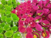 Paniers colorés de feutre Image libre de droits