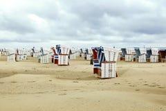 Paniers colorés de plage Photos stock