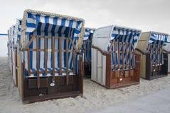 Paniers de plage Photos stock