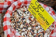 Paniers des haricots secs image libre de droits