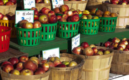 Paniers des pommes Photographie stock