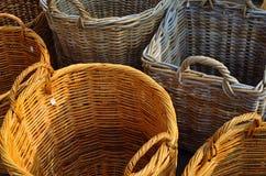 Paniers en osier Photos stock