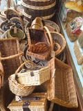 Paniers en osier Image stock