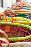 Paniers en osier colorés Images libres de droits