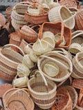 Paniers en osier fabriqués à la main Images libres de droits
