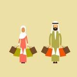 Paniers musulmans de prise de femme d'homme de couples arabes Photos stock