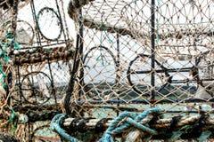 Paniers pour la pêche Photographie stock libre de droits