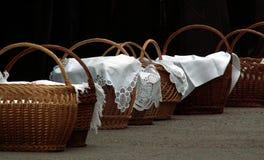 Paniers sanctifiés de repas Photographie stock