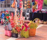 Paniers tissés colorés Photo stock