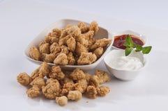 Paniertes Fisch-Popcorn Lizenzfreies Stockfoto