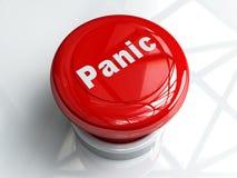 Panik-Taste Lizenzfreie Stockfotos