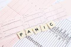 Panik von einem Herzinfarkt Lizenzfreie Stockfotos