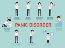 Panika nieład infographic Obraz Royalty Free