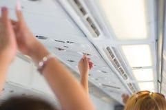 Panika w samolocie zdjęcie royalty free