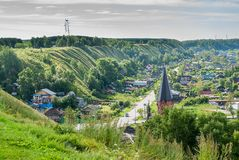 Panin hillock. Down town of Tobolsk, Russia Stock Images