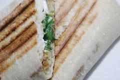 Panini. Goats cheese and onion chutney panini from Costa Coffee. London Kings Cross Stock Image