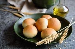 Panini All'Olio - Italian olive oil bread rolls. Panini All'Olio - traditional Italian olive oil bread rolls Royalty Free Stock Photo