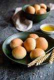Panini All'Olio - Italian olive oil bread rolls. Panini All'Olio - traditional Italian olive oil bread rolls Royalty Free Stock Photography