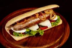 Panini avec des saucisses photos libres de droits