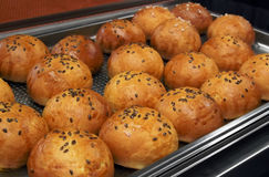 Panini caldi al forno freschi Fotografie Stock