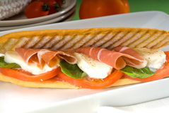 Panini caprese and parma ham Stock Image
