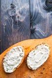 Panini con creamcheese Fotografia Stock Libera da Diritti