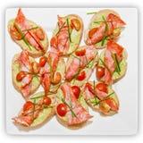 Panini con il prosciutto ed i pomodori Fotografia Stock Libera da Diritti