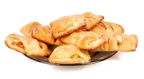 Panini con la mela su un piatto Immagine Stock