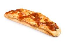 Panini con la salsiccia ed il formaggio Fotografia Stock