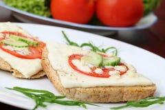 Panini cotti del formaggio Immagini Stock Libere da Diritti