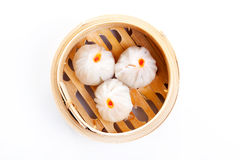 Panini cotti a vapore cinese Fotografia Stock