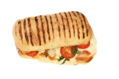 Panini de fromage et de tomate images stock