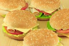 Panini del formaggio e del pomodoro Fotografia Stock